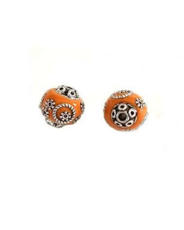 Perle d'indonésie 15mm orange X 1