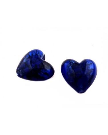 Coeur verre 23-27mm bleu x1