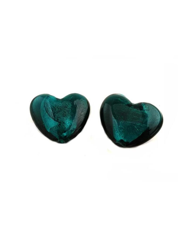 Coeur verre 30-35mm vert x1