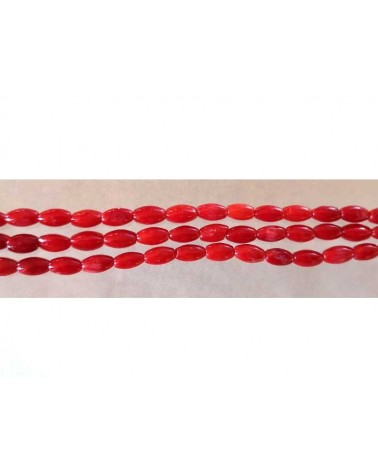 Corail bambou 6x5mm rouge x 15