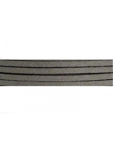 Lacet suédine 3x1,4mm gris X1M
