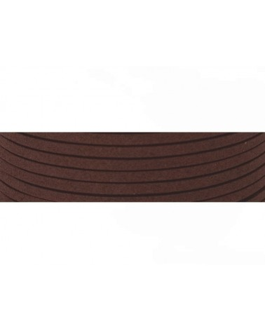 Lacet suédine 3x1,4mm marron X1M