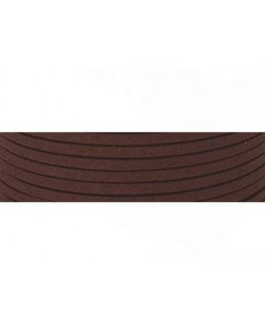 Lacet suédine 3x1,4mm marron X1M