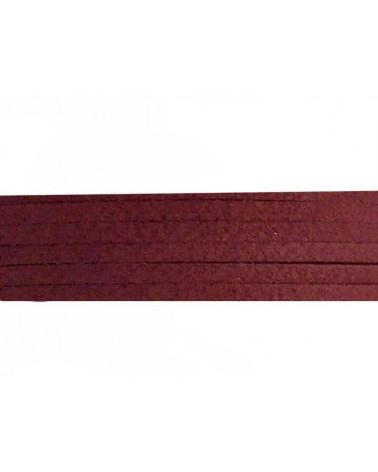 Lacet suédine 3x1,4mm rouge X1M