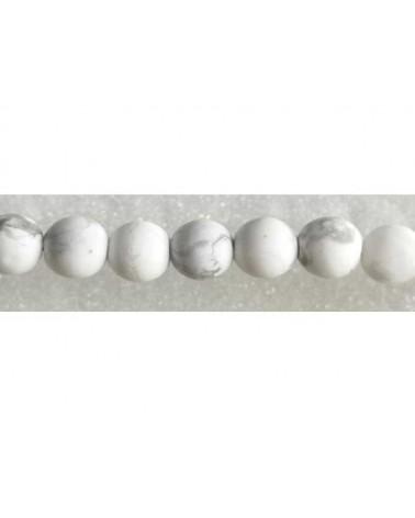 Howlite véritable 6mm blanc mat X 15