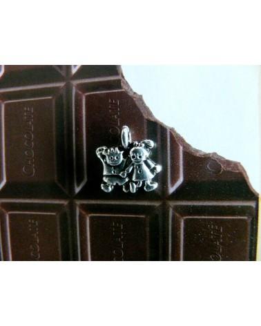 Breloque petite sorcière 14x10mm argentée x1