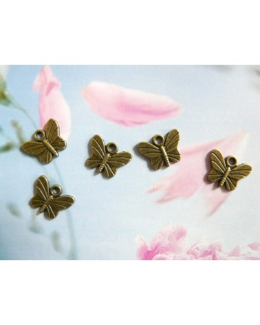 Breloque petit papillon bronze15 x 11.5mm x1