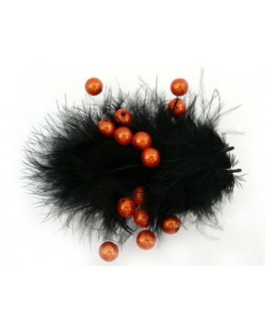 Perles magiques 6mm orange cuivré par 25 ou 150