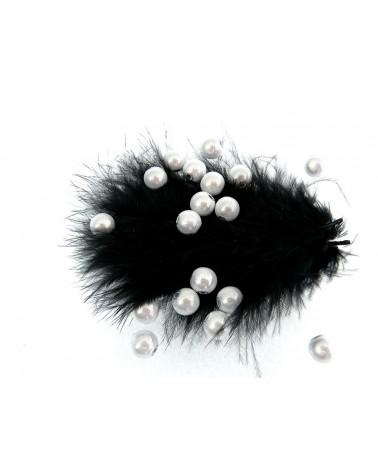 Perles magiques 8mm blanc argent G pa 20 et par 100