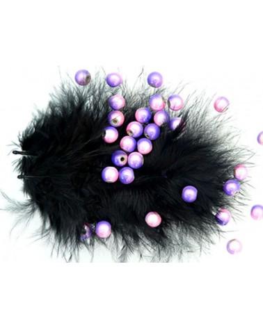 Perles magiques 6mm bicolores Violet et rose par 25 ou 150