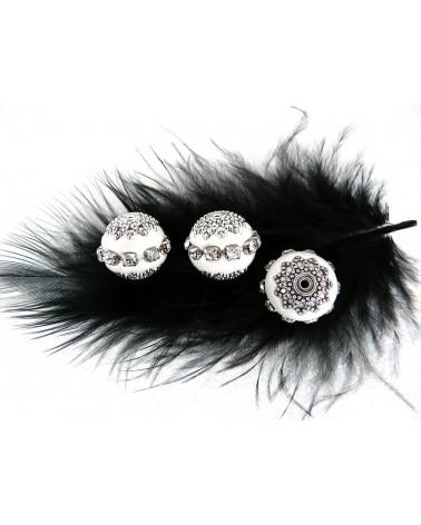 Perle d'indonésie ronde 16 x14 mm Blanc x1