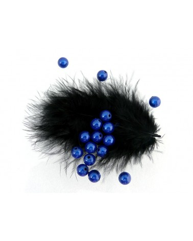 Perles magiques 8mm bleu saphire