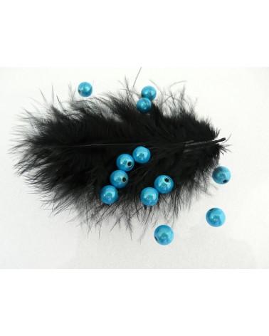 Perles magiques 8mm turquoise foncé par 20 ou 100