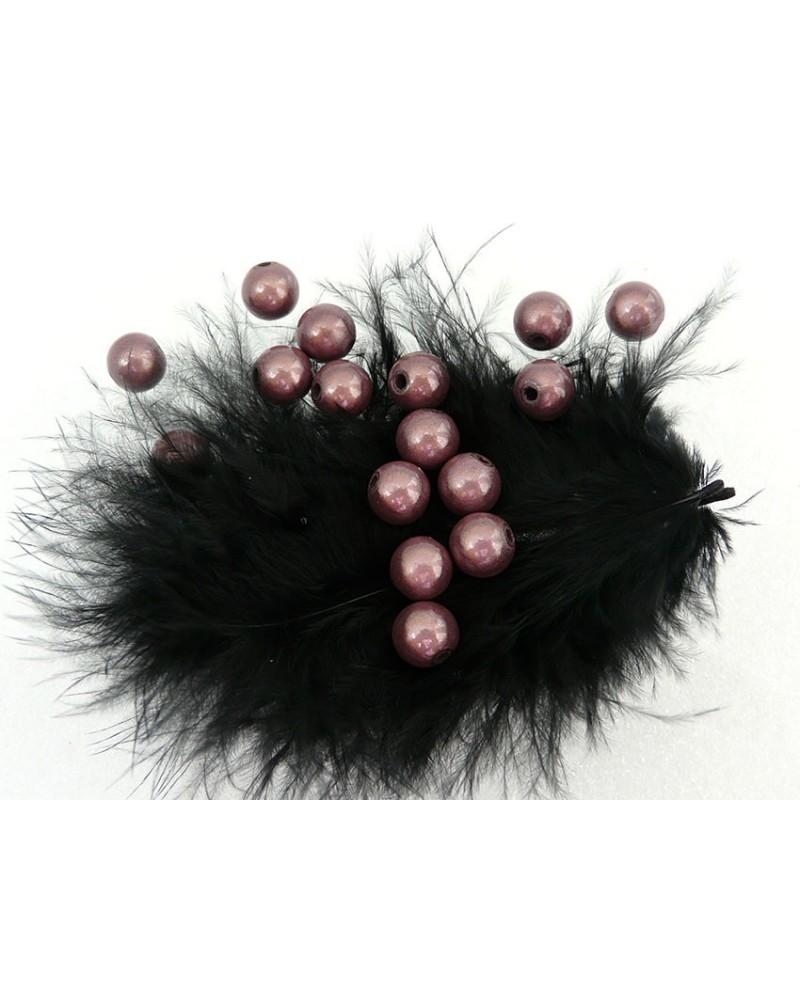 Perles magiques 8mm gris taupe par 20 ou 100
