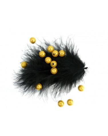 Perles magiques 8mm jaune d'or par 20 ou 100