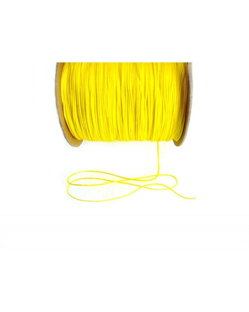 Fil nylon tressé 1mm JAUNE citron x 3 Mètres