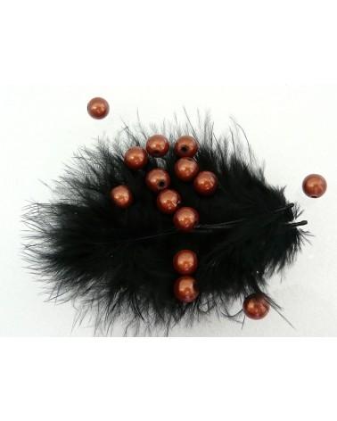Perles magiques 8mm marron clair par 20 ou 100