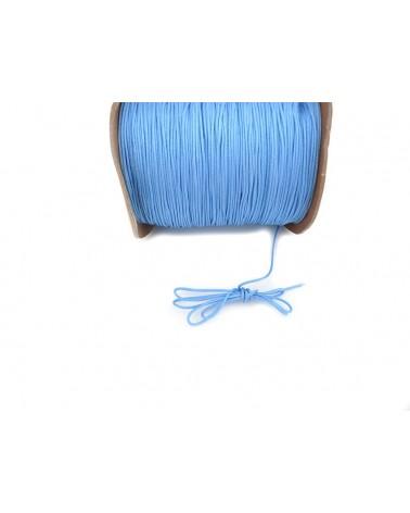 Fil nylon tressé 1mm BLEU ciel x 3 Mètres