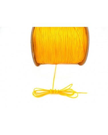 Fil nylon tressé 1mm JAUNE bouton d'or x 3 Mètres