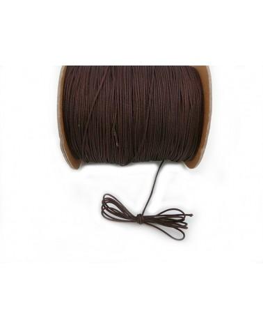 Fil nylon tressé 1mm MARRON chocolat x 3 Mètres