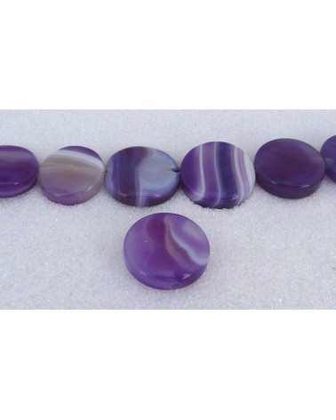 Agate lace plate 20mm violet