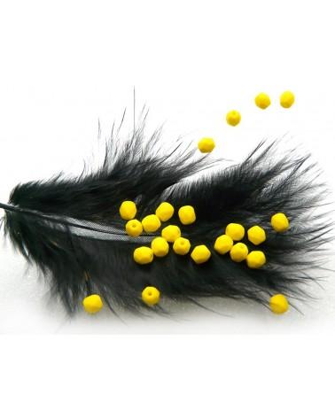 Facettes de Bohême 4mm jaune citron-yellow opaq x 50