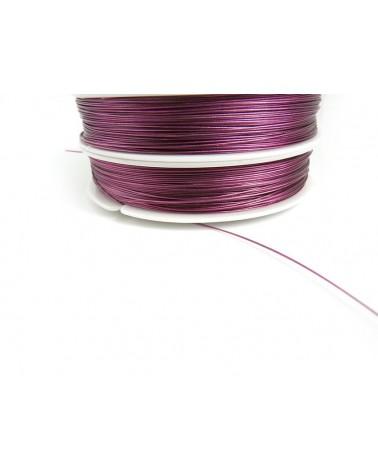 Fil cable d'acier VIOLINE 0.45mm 7 brins 100 Mètres