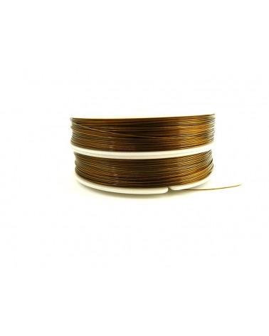 Fil cable d'acier DORE Antique 0.45mm 7 brins 100 Mètres