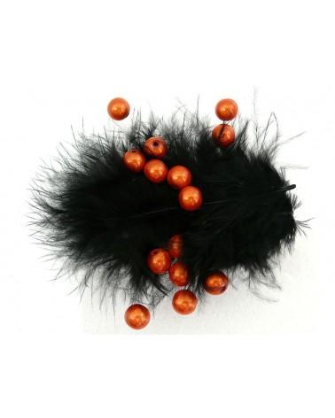 Perles magiques 8mm orange cuivré par 20 ou 100