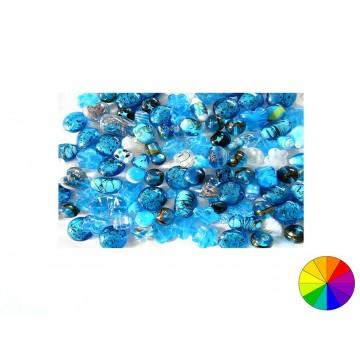 Perles en verre mélangées