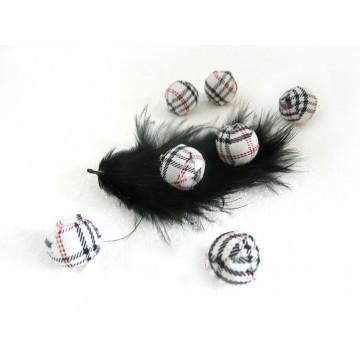 Perles textiles et recouvertes
