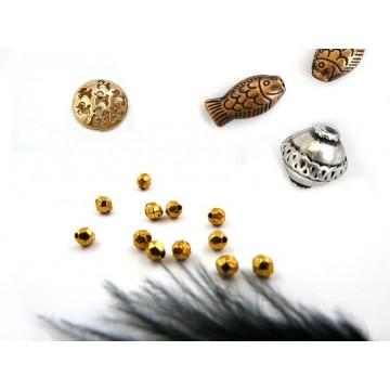 Perles métal par finition