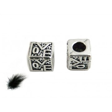 Perles argentées             -gunmétal-platine