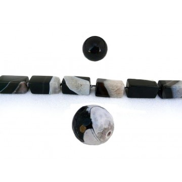 Agate noire / blanche