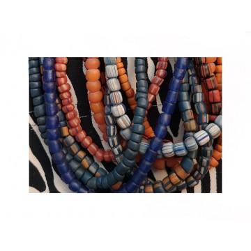 Perles en verre recyclé artisanales